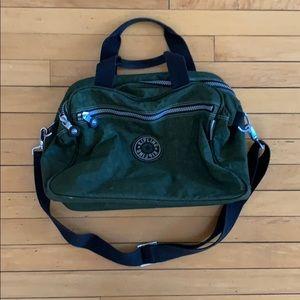 Kipling army green bag with three pockets